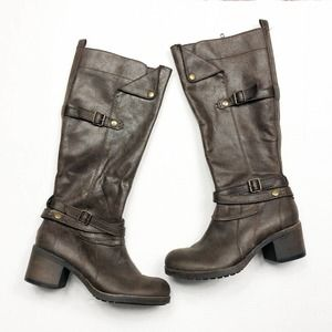 MIA Brown Faux Leather Sabato Knee High Boots 8.5